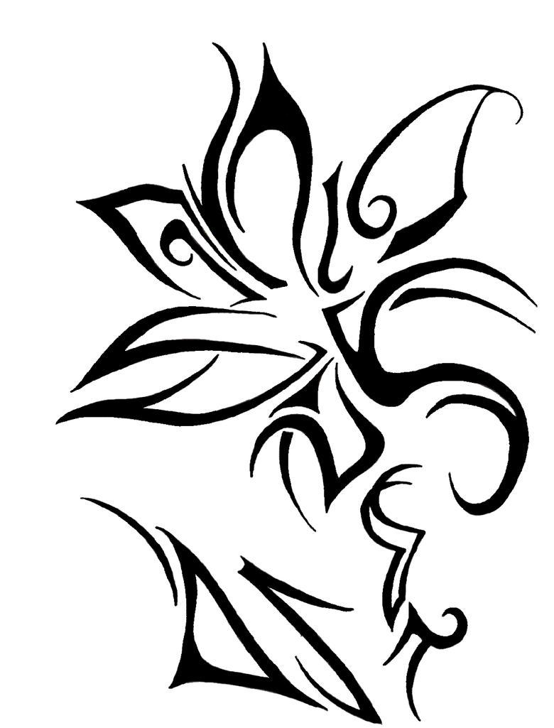 Tribal Flower Drawings Tribal flower by lightkiller5k