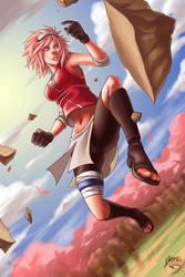 FANART: Haruno Sakura by Quirkilicious