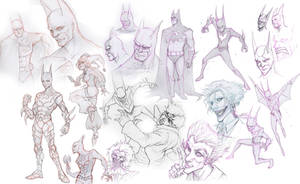 Sketch Attack: Bats by Quirkilicious