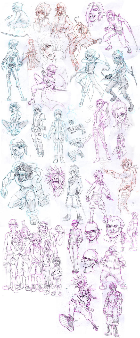 Sketch Attack: Manga Concepts by Quirkilicious
