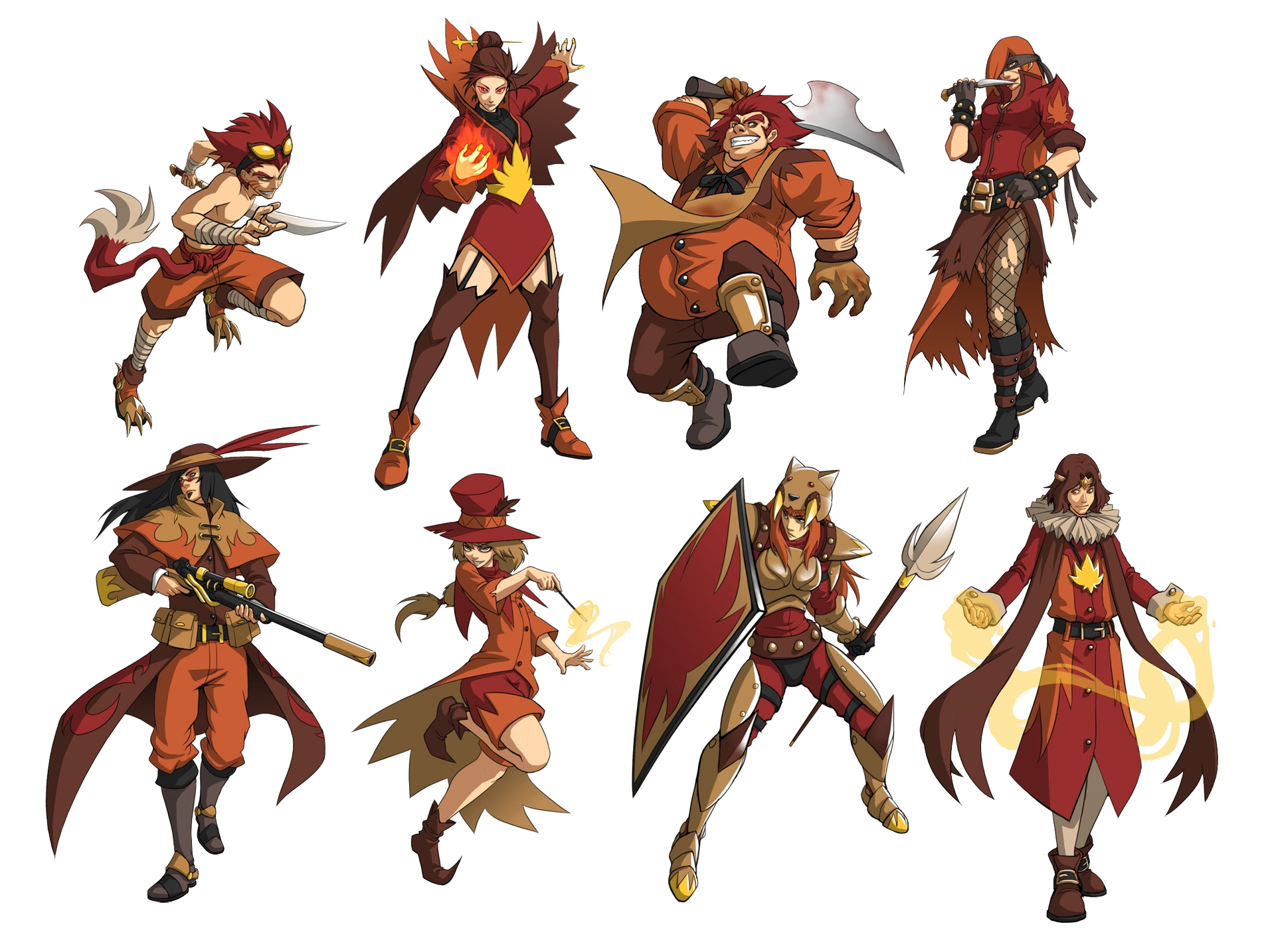 2d Character Design Course : Fall class concepts by quirkilicious on deviantart