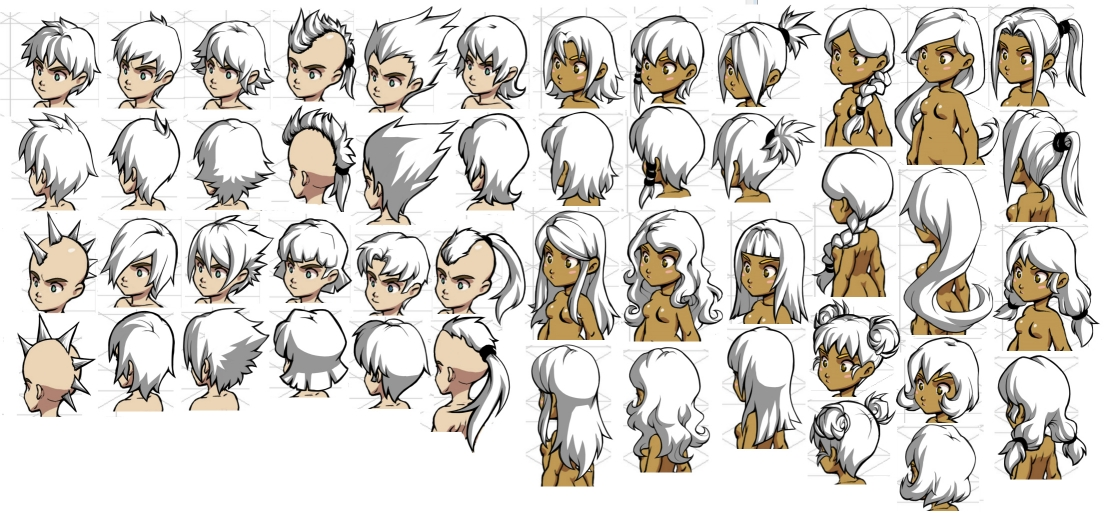 Character Design Hairstyles : Hairstyle designs by quirkilicious on deviantart