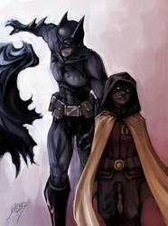 Robin and Batman by Quirkilicious