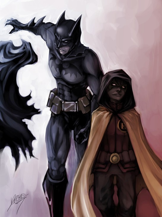 Robin and Batman by Quirkilicious