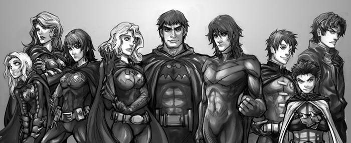 Bat Family Sketch