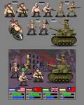 An offensive war game