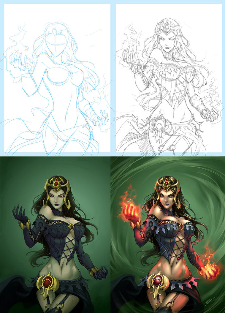 Liliana Progress by Quirkilicious