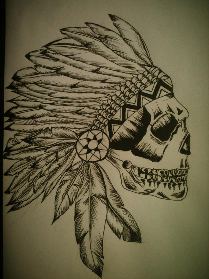 Headdress skull by jaguarchild on deviantART