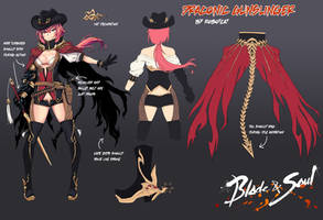 Blade and Soul Character Design Contest Female Ver by RobotCatArt