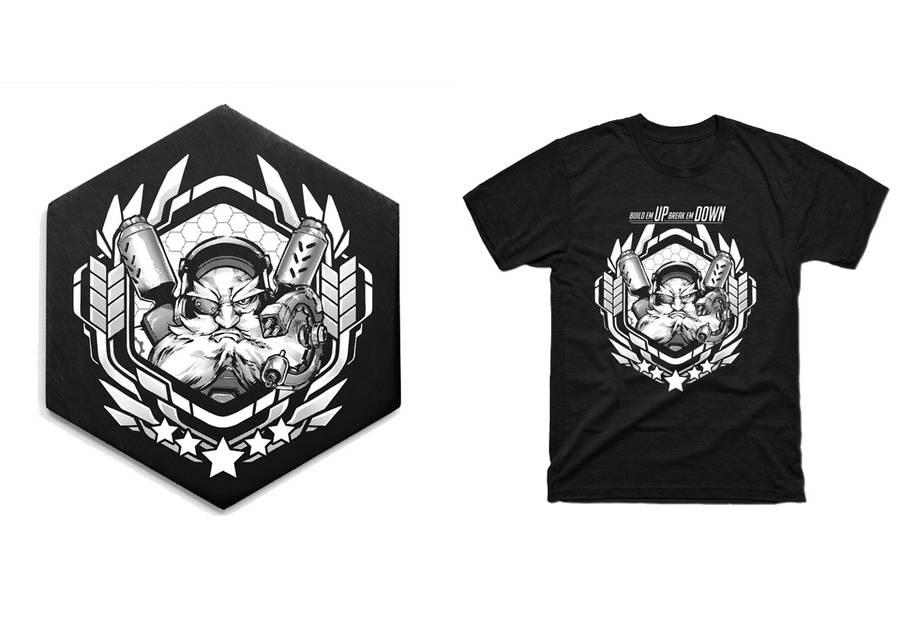 Torbjorn Coaster + Shirt! by RobotCatArt