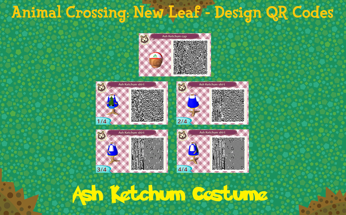 Animal Crossing New Leaf QR Code  Ash Ketchum by PuffyTopianManQr Codes Animal Crossing New Leaf Pokemon