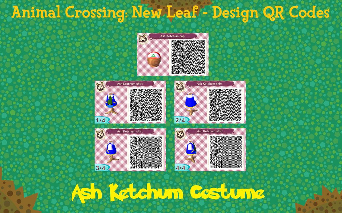 Animal Crossing New Leaf Qr Code Ash Ketchum By Puffytopianman On