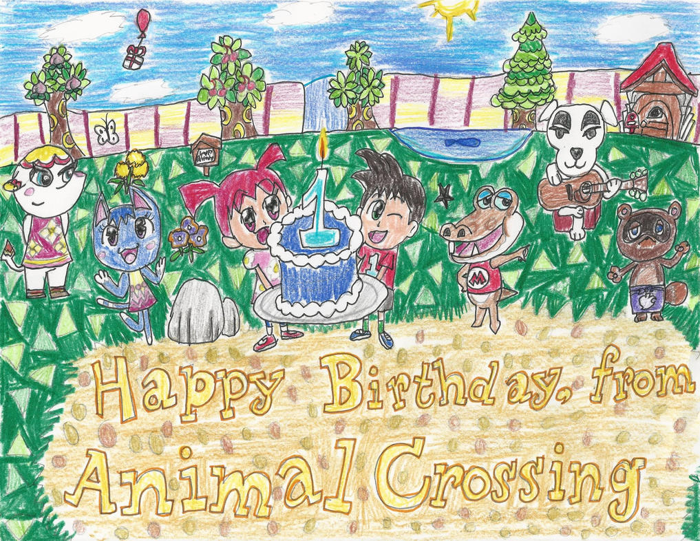 Animal Crossing Birthday Greeting By Puffytopianman On Deviantart