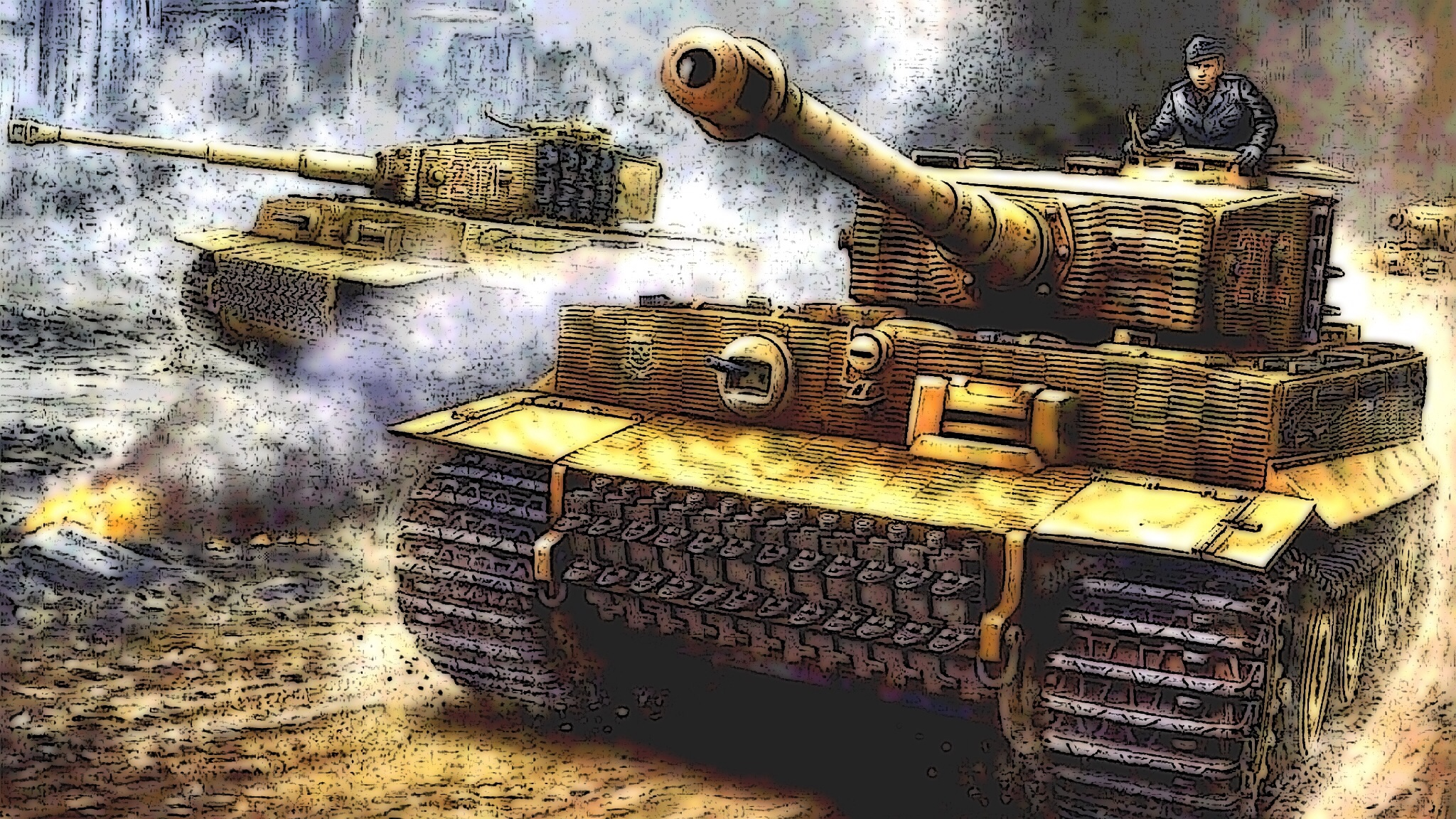 Tiger Tank I late version on battle rush by WULF-1045 on