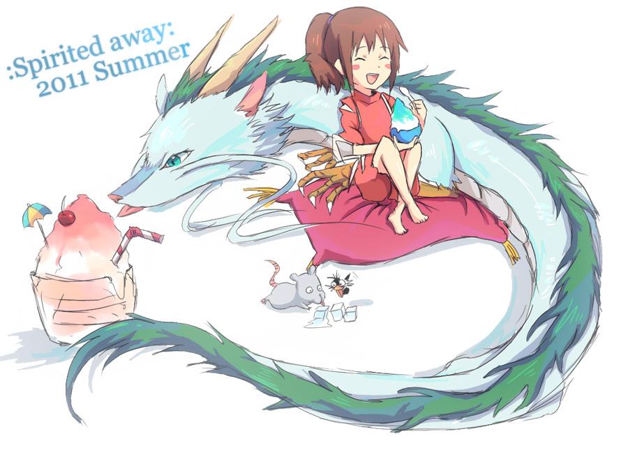 Chihiro and Haku by Phoebit