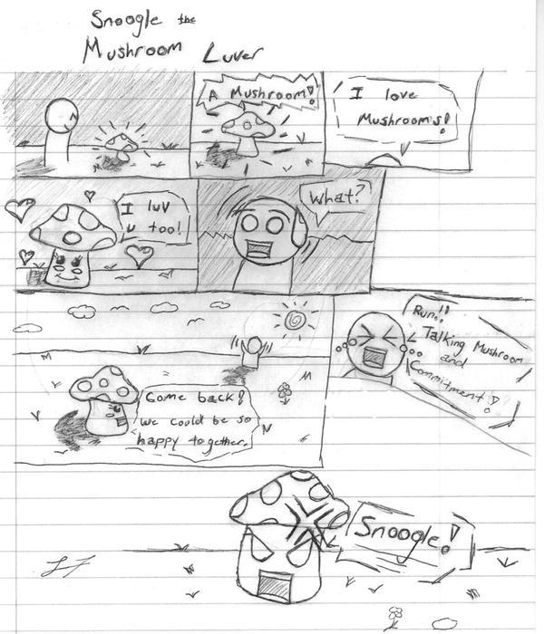 Snoogle the Mushroom Lover by DNAngel607
