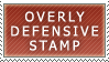 Overly Defensive Stamp - Loppi by Cola82