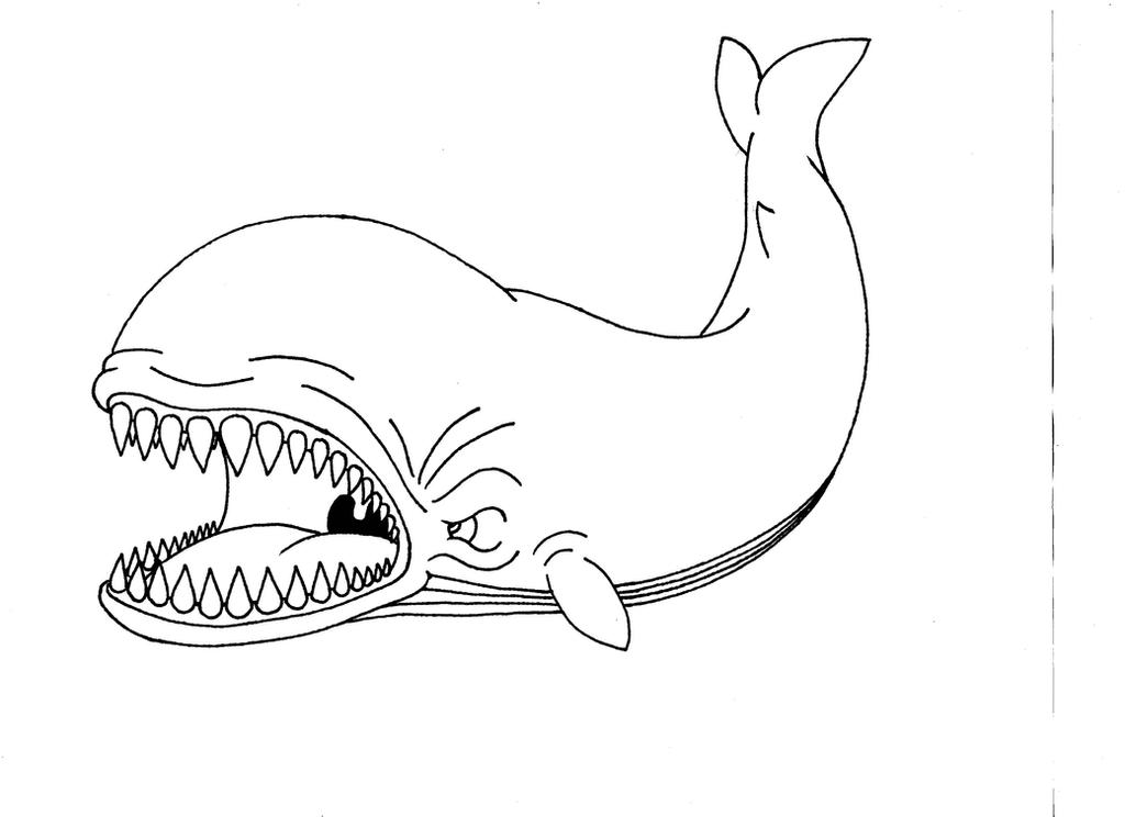 pinocchio whale coloring pages - photo#2