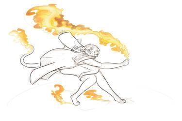Fire Battle WIP by Oblivious-Rain