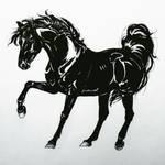 Inktober 19 day 3 Horse