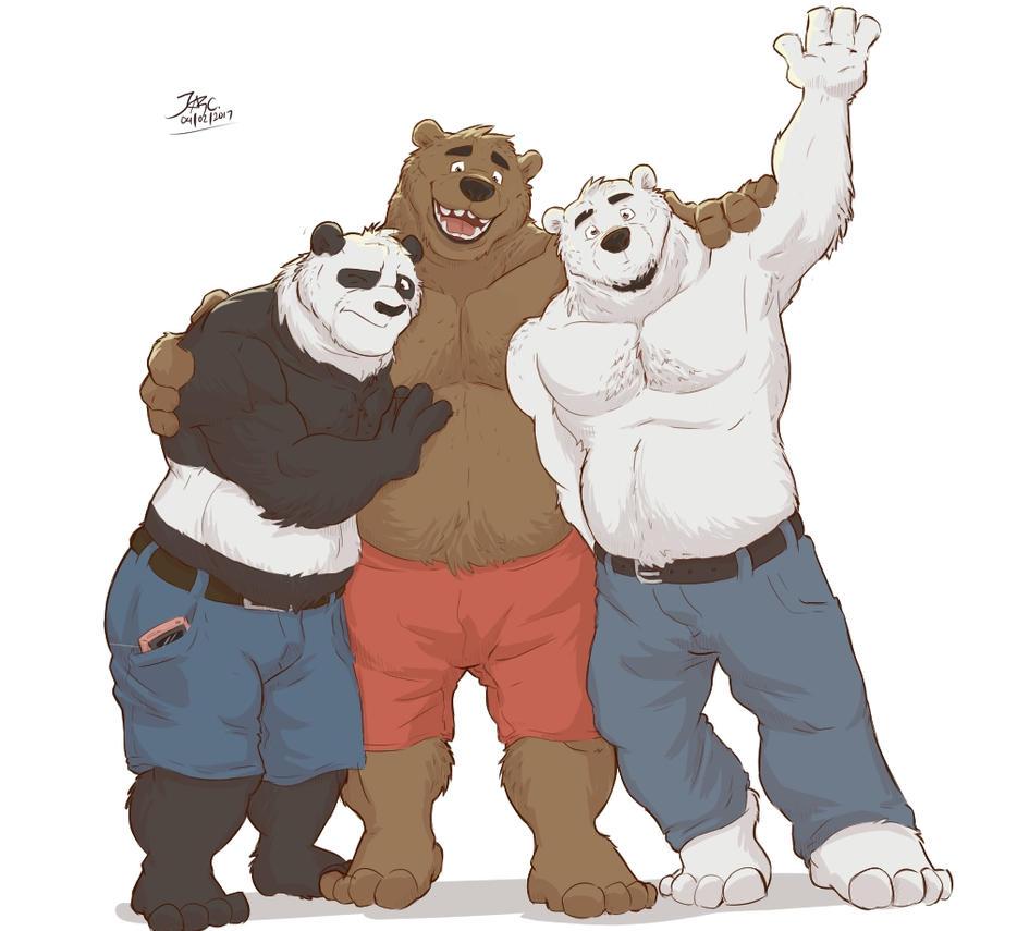 We Bare Bears -  Bara Mode by JAZcabungcal