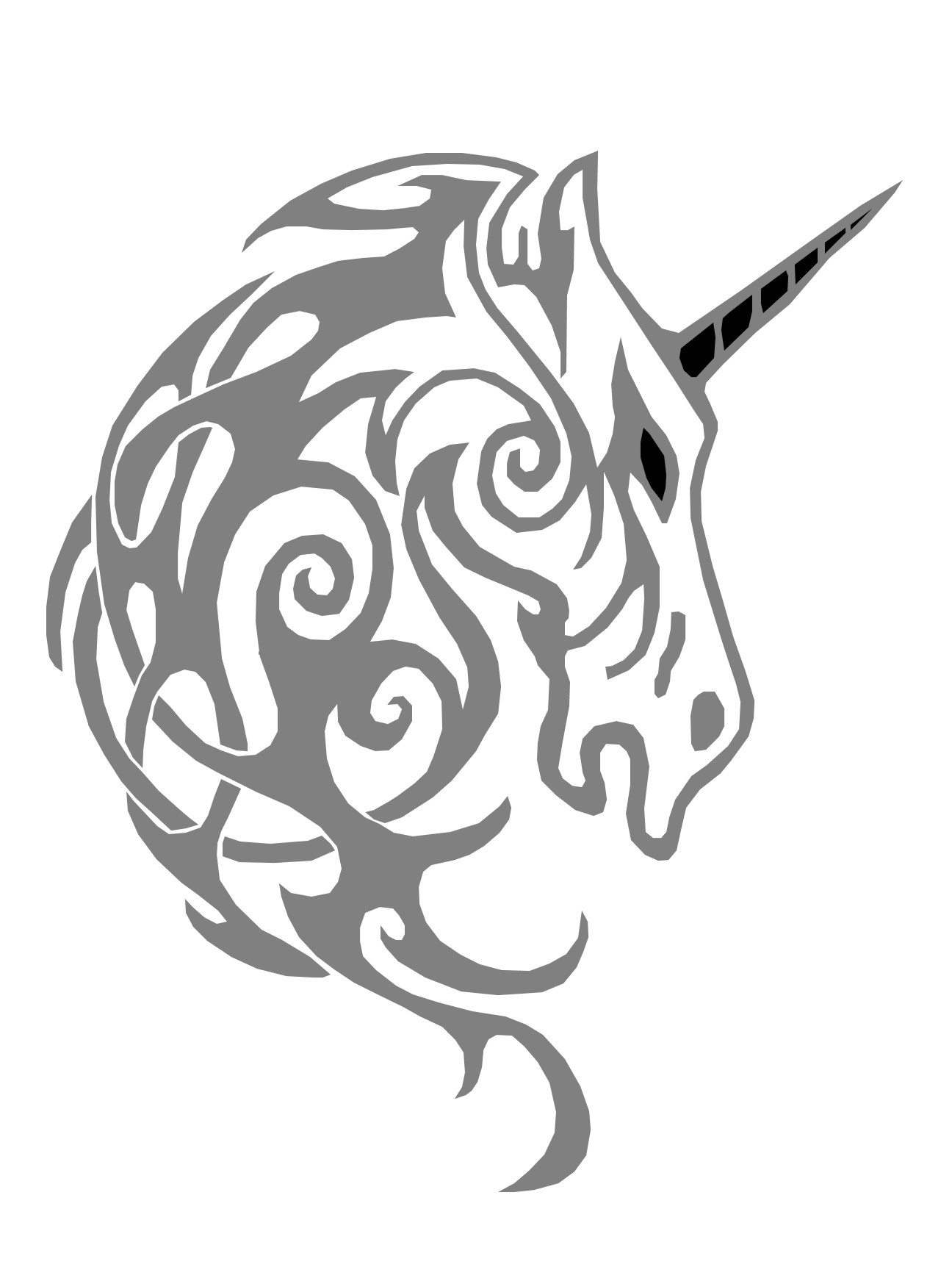 Unicorn Pumpkin Carving Unicorn Pattern by Pumpkin