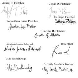 Character Signatures by Wilhelmina-vanRoyen