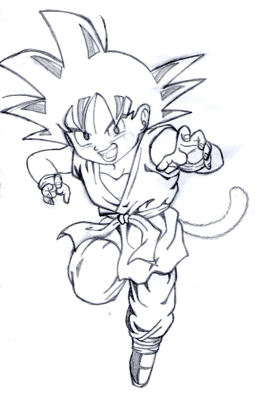 Dibujos para dibujar de Goku - Imagui