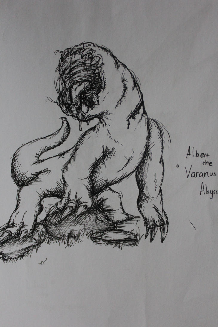Albert the Varanus Abyssus by ichigoaoi