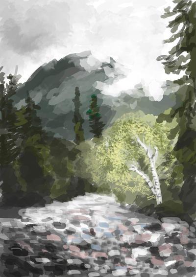 Forest creek by Purple12345