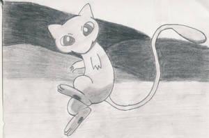 Mew sketch by 1Meh1