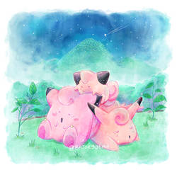 Sweet Dreams ~ Pokemon Fanart by Batory by happybatory
