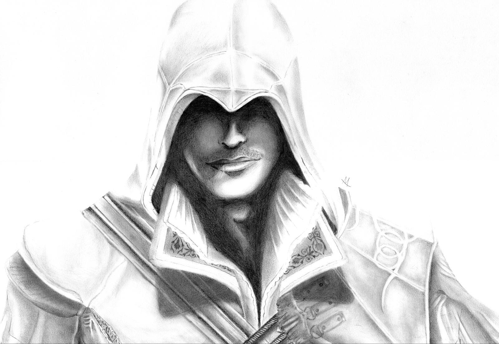 Ezio Face Drawing