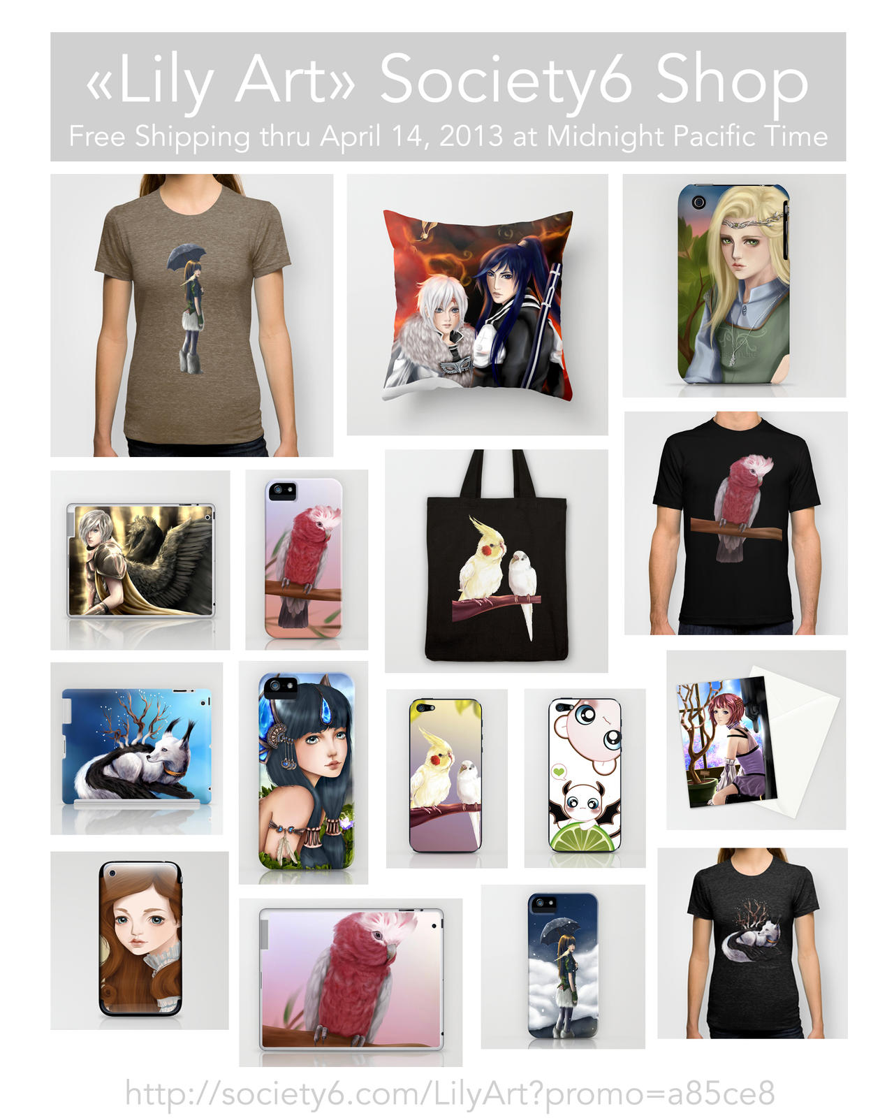 Free shipping from society6 by lilyt art on deviantart for Websites similar to society6