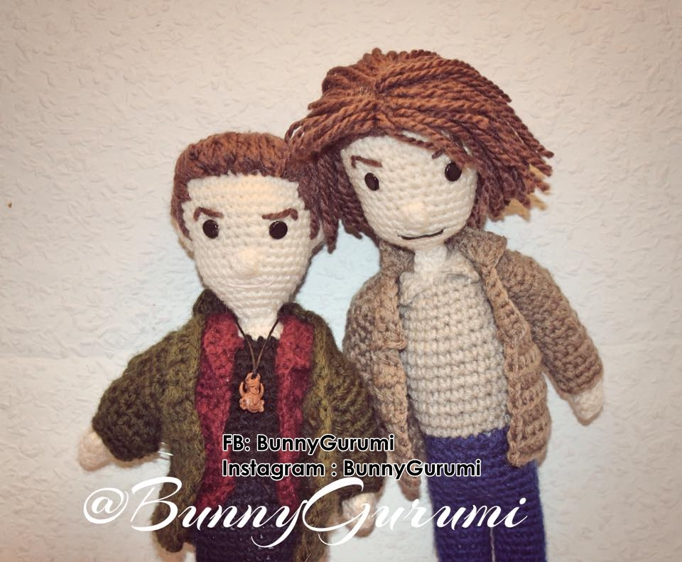 Dean and Sam Winchester Amigurumi Doll by DilaraPhotogrphy