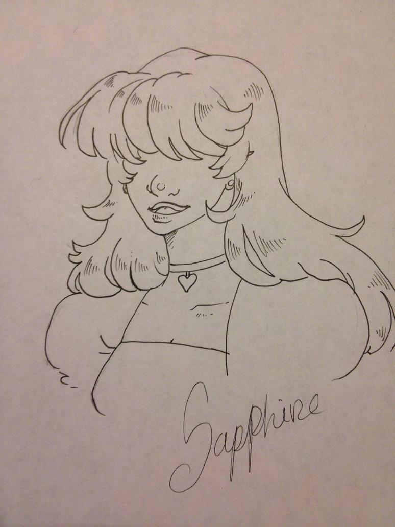 Sapphire doodle by lyrastone