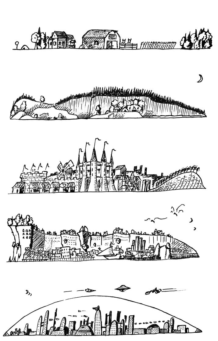small worlds by Akaleon