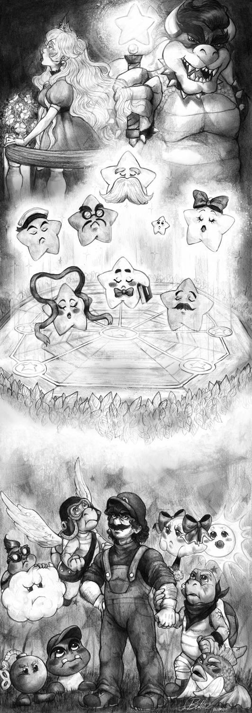 PAPER MARIO by LittleSakis-Aubade