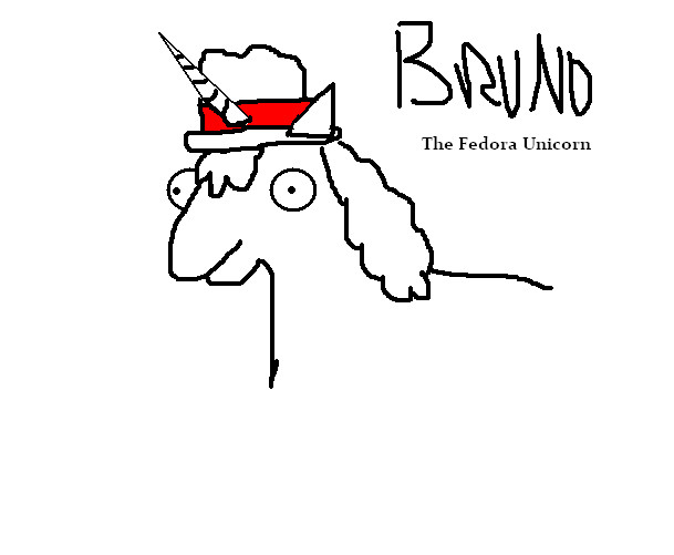 Bruno The Creepy Fedora Unicorn By Queen-of-olympus On