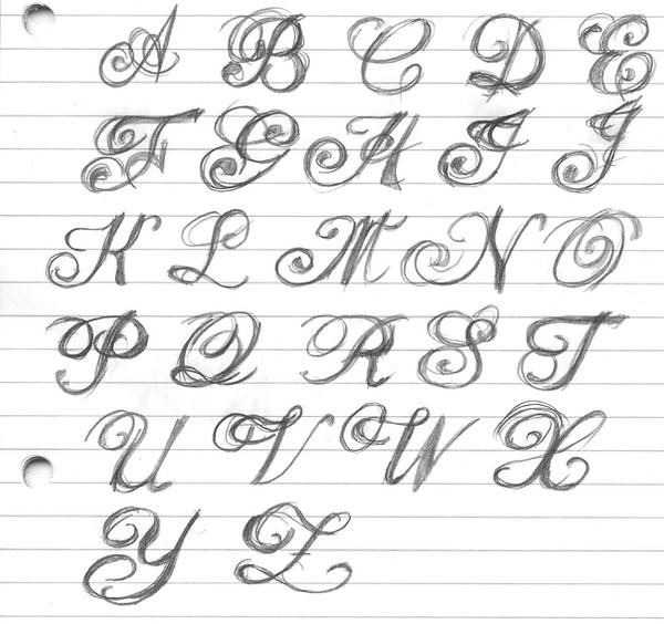 Fancy lettering by artitek on deviantart How to write calligraphy letters az