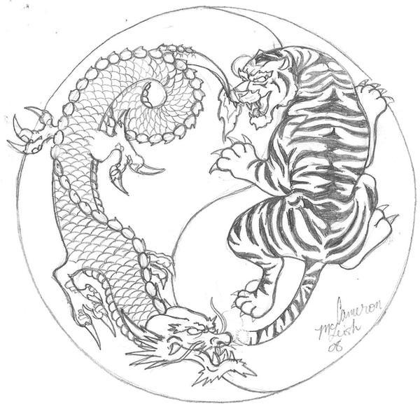 Dragon and Tiger Yin-Yang by Artitek on DeviantArt