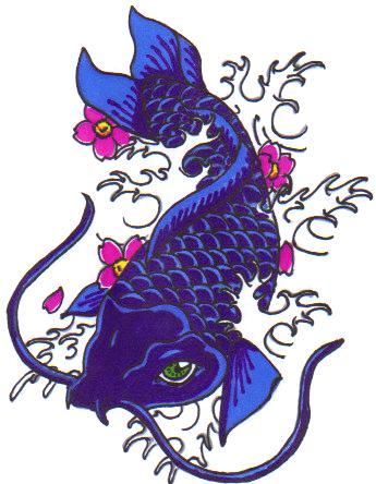 Tattoo pictures by toni fitzpatrick for Purple koi fish