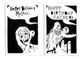 Birthday Cards by freaky-dragonlady