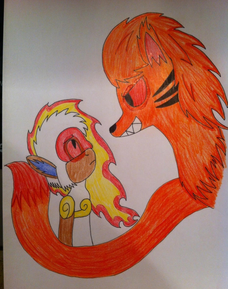 Flame and Kurama by Infernapelover