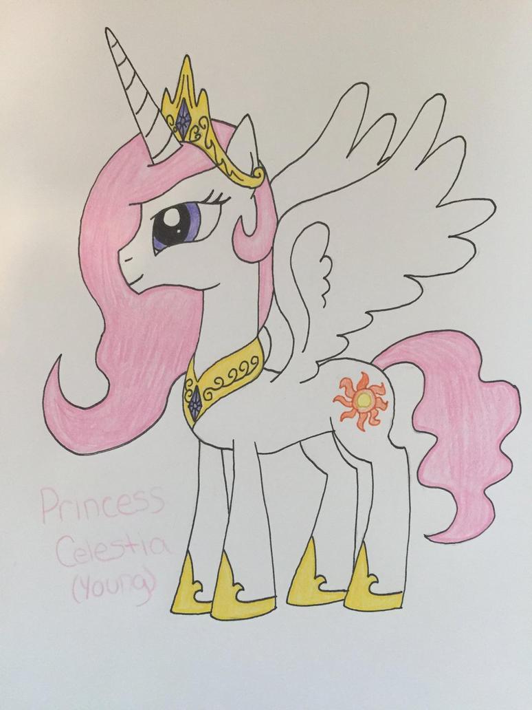 Young Princess Celestia by Infernapelover