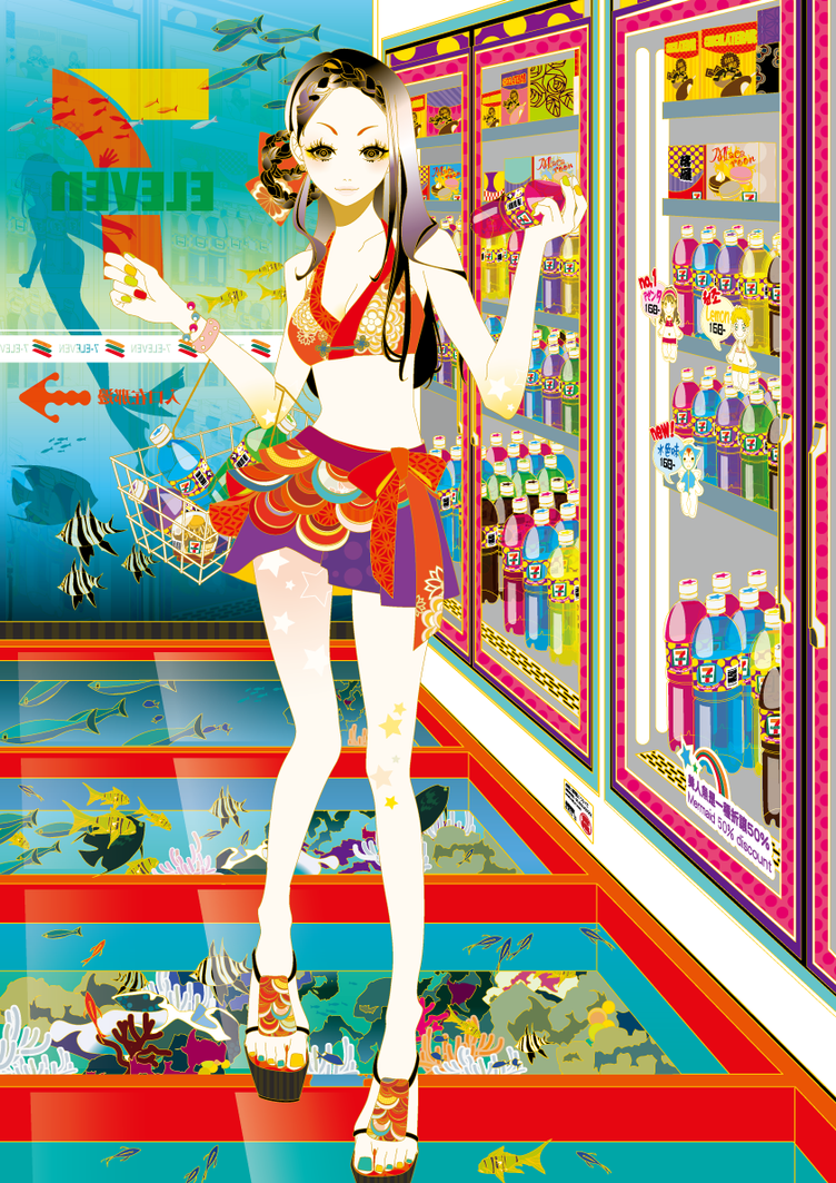 7ELEVEN x AGD Girls, collaboration by funarium