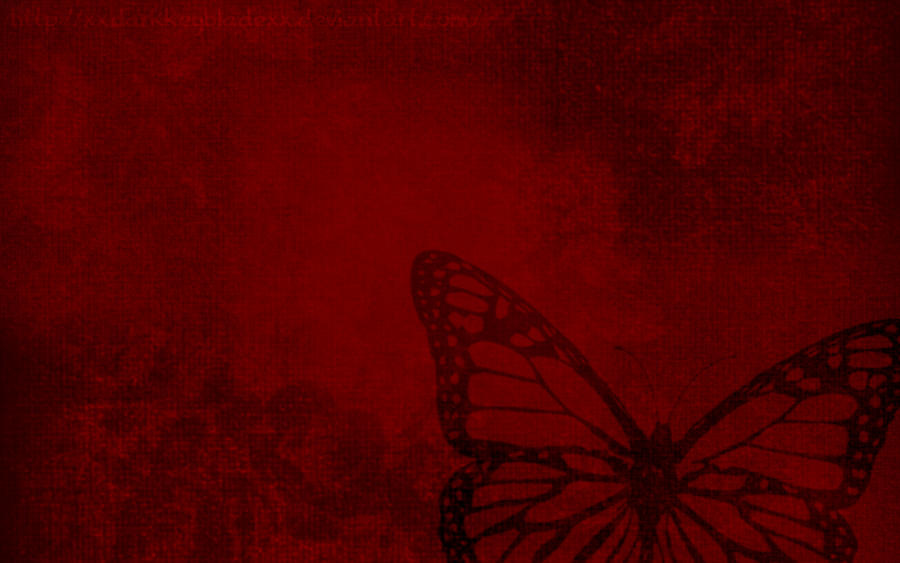 Red butterfly background