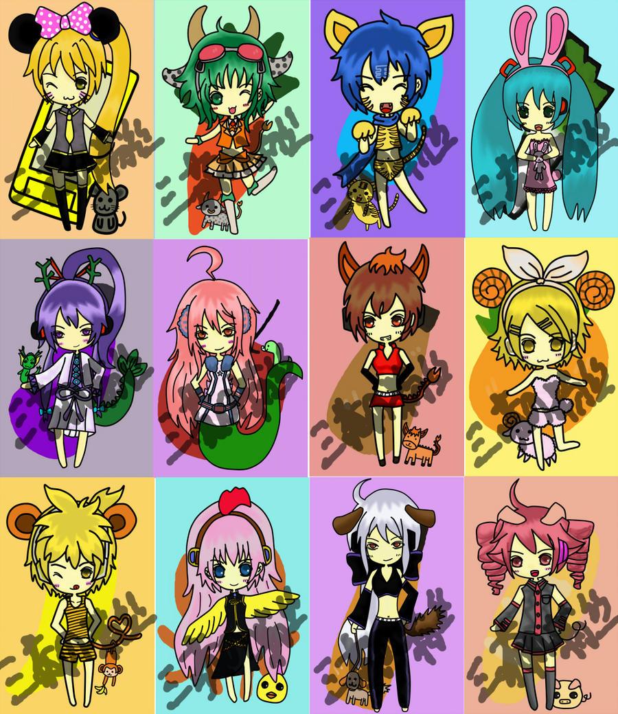 Vocaloid Chinese Zodiac Ver by jaysanzo on DeviantArt