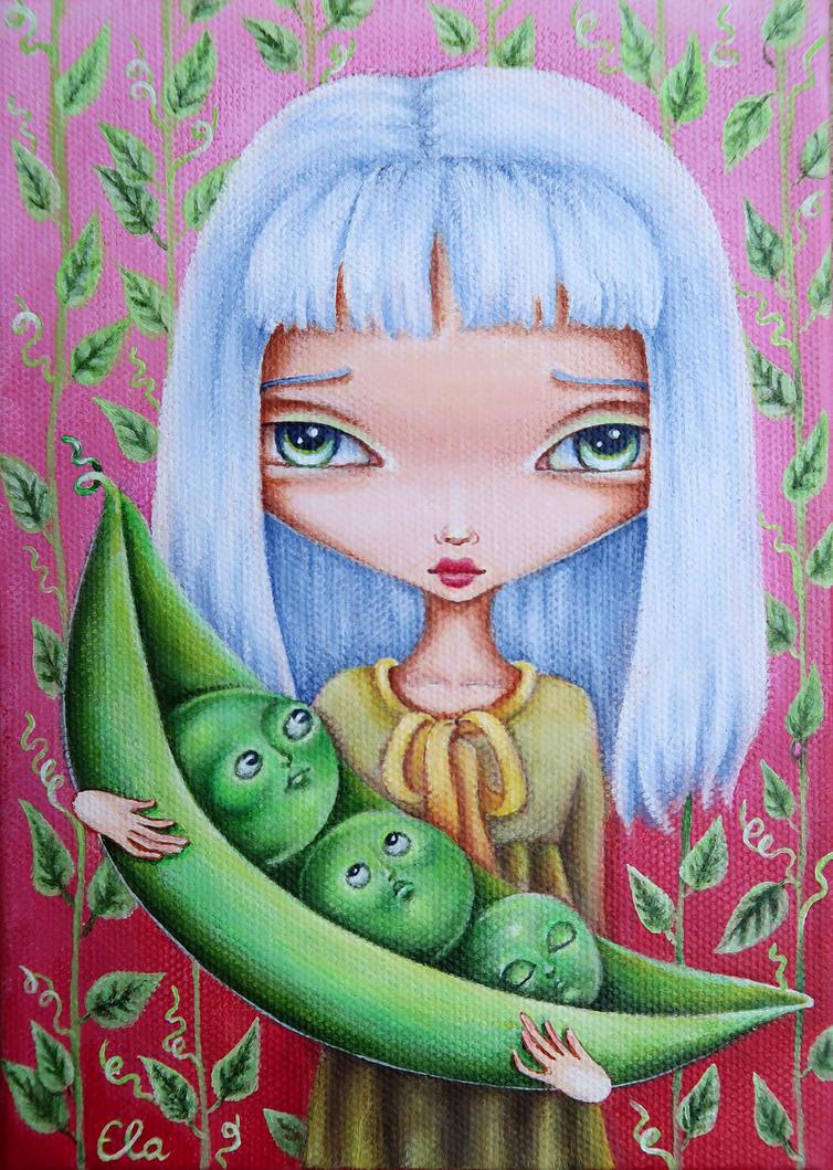 Sweet Peas by ElaTell