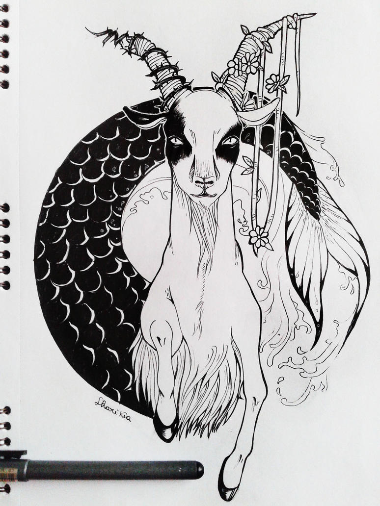 Zodiac Line Drawing : Zodiac signs capricorn by sharikia on deviantart